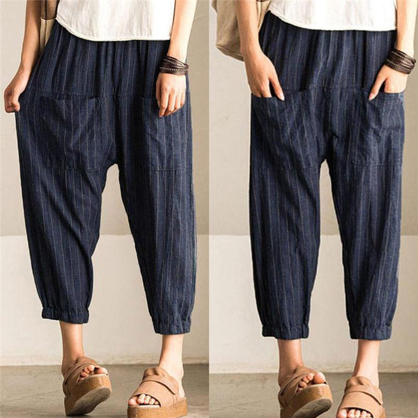 High waist flow pants