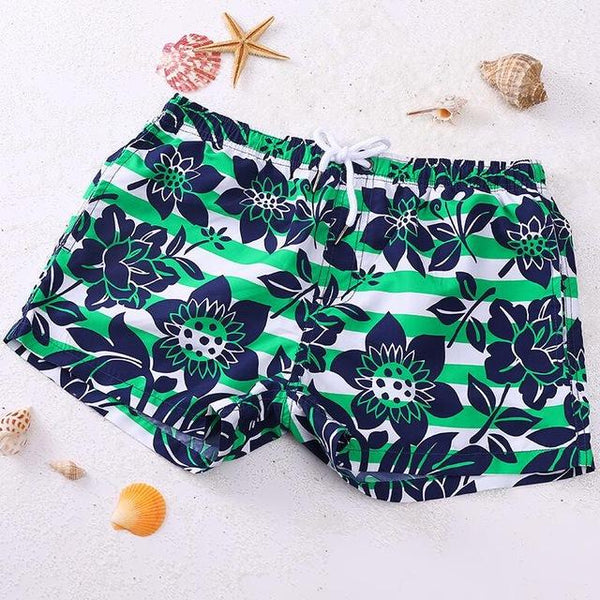 Green Tropics Swim Trunk