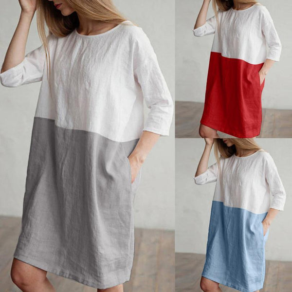 Oversized Linen Tunic Dress