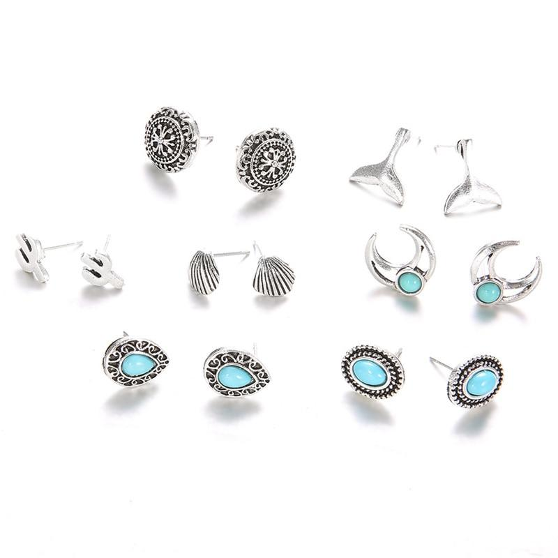 Vintage Stud Earrings Set