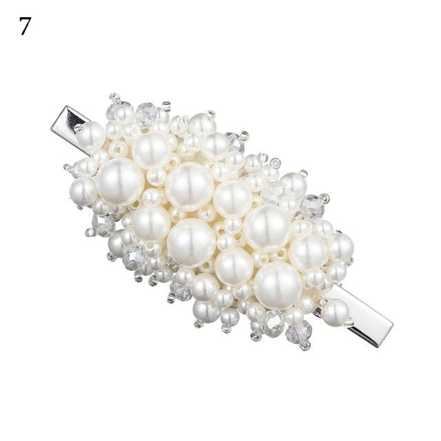 Silver Antoinette Pearl Hairclips
