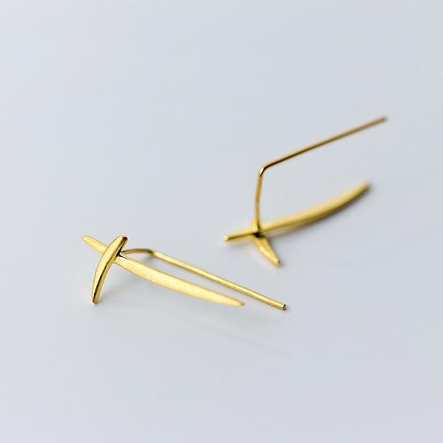 Cross Clip Earrings - 14k Gold Filled & 925 Sterling Silver