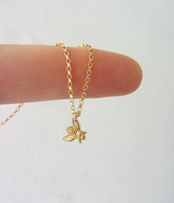 Tiny Honeybee Necklace
