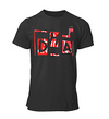 DHA Men's Tri-Blend Short-Sleeve Tee | Bella + Canvas | White Logo