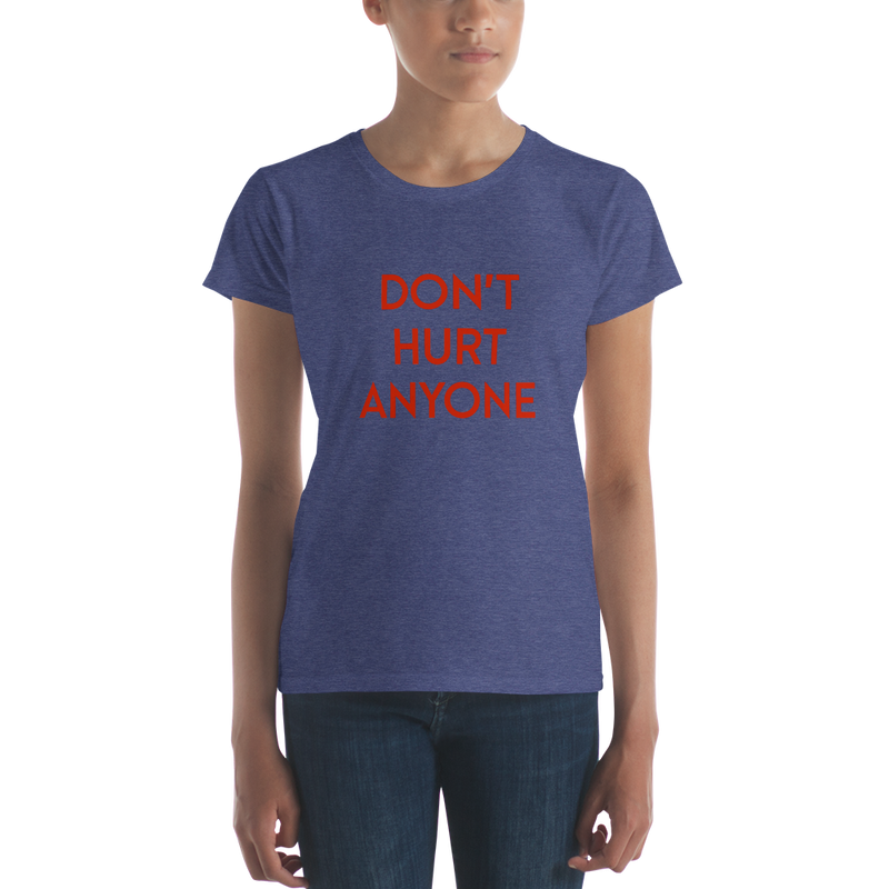 DHA Women's Short Sleeve T-Shirt - Red Logo