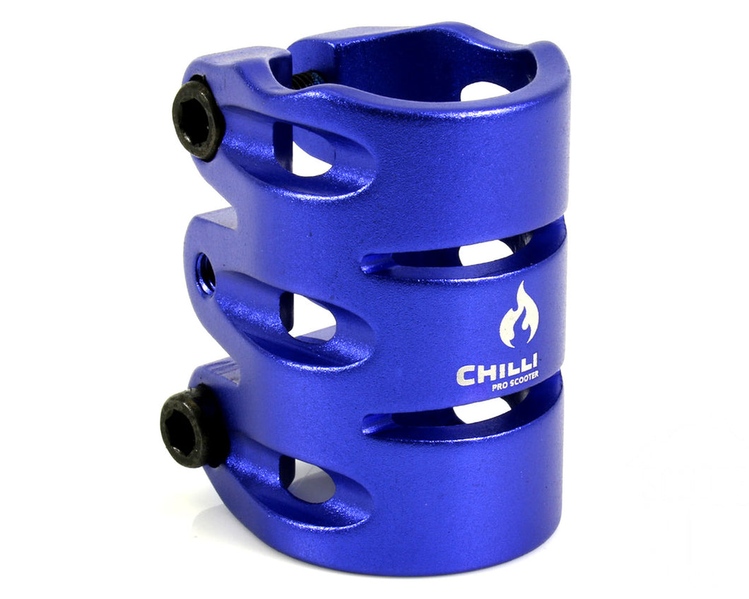 Chilli 3-Bolt Triple HIC Clamp Standard BLUE