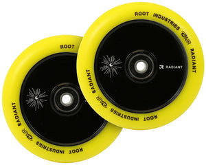 Root Ind. Air Scooter Wheels Pair Black/Yellow 110mm