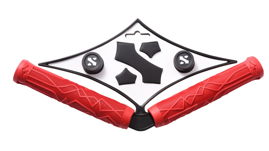 Sacrifice Spy Scooter Grips Red