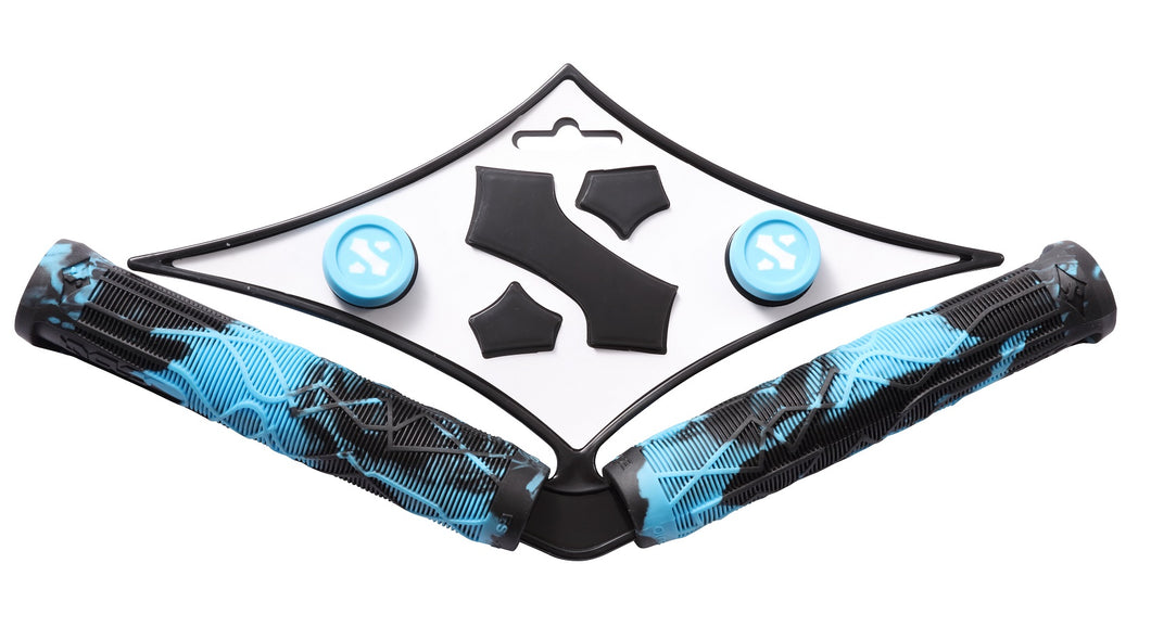 Sacrifice Spy Scooter Grips Teal/Black