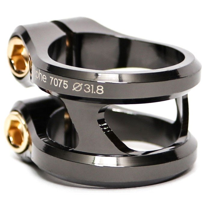 Ethic DTC Sylphe Black Chrome Double Clamp (31.8mm) HIC