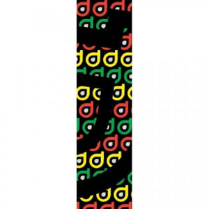 District Logo Repeat Scooter Grip Tape - Rasta