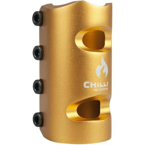 Chilli Pro SCS 4 Bolt Oversized Clamp - Gold