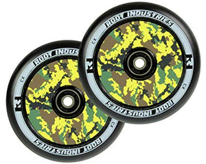 Root Ind. Air Scooter Wheels Pair Black/Camo 110mm