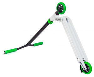 SACRIFICE SCOOTERS FLYTE 115 COMPLETE STUNT SCOOTER, WHITE/GREEN