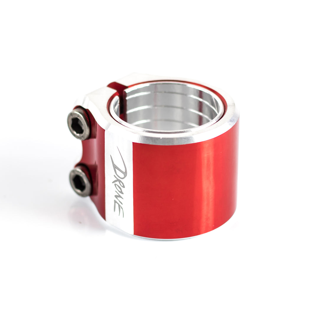 Drone Contrast Double Collar Clamp - Red