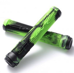 Fasen Fast Scooter Grips - Green/Black