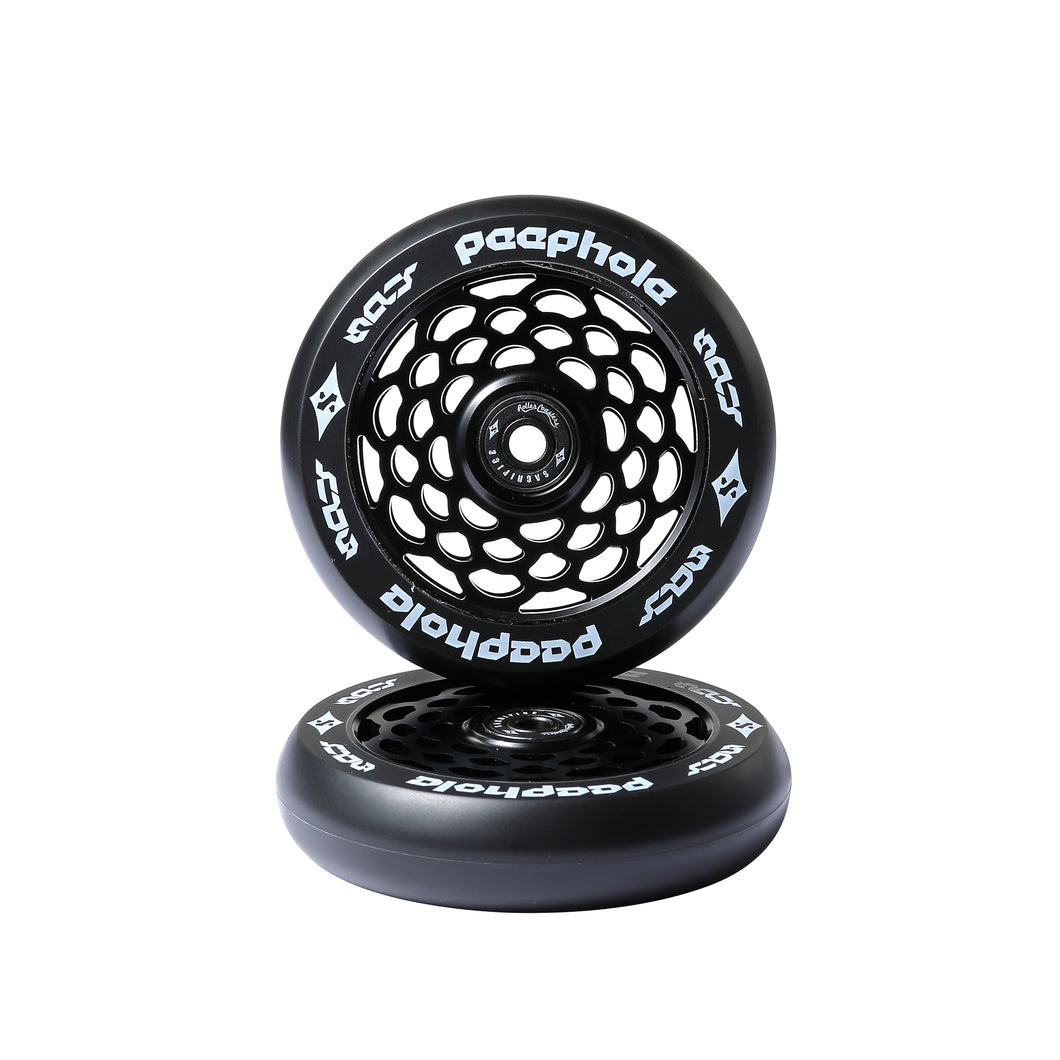 Sacrifice Spy PeepHole Black 110mm Wheels (Sold In Pairs)
