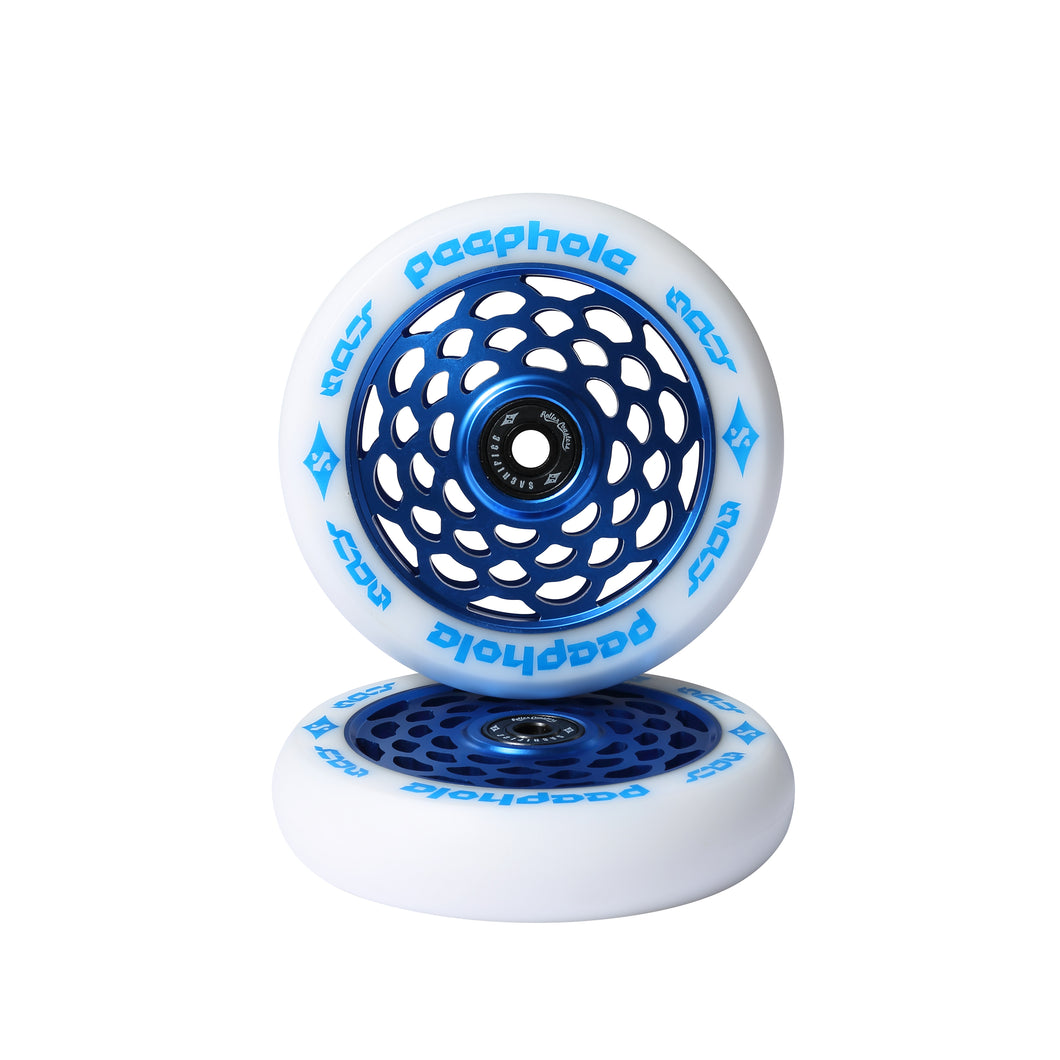 Sacrifice Spy PeepHole Blue 110mm Wheels (Sold In Pairs)