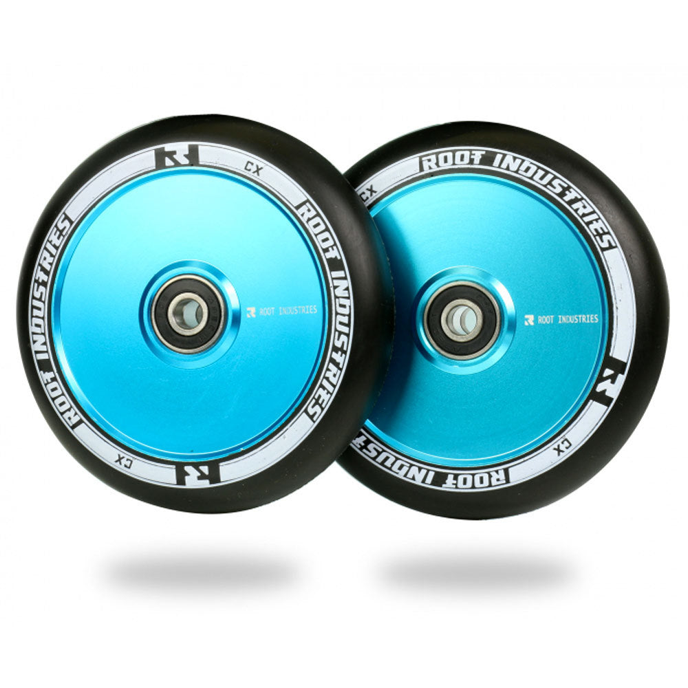 Root Ind. Air Scooter Wheels Pair Black/Sky Blue 110mm