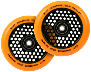 Root Ind. Honey Core Scooter Wheels Pair Black/Orange 120