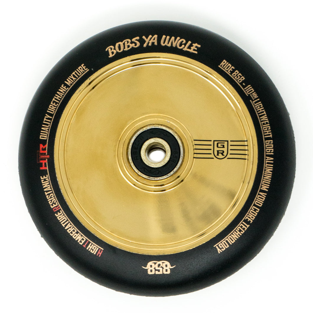 Ride 858 GR Stunt Scooter Wheels (pair) - Gold