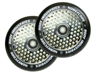 Root Ind. Honey Core Scooter Wheels Pair Black/Mirror 110mm