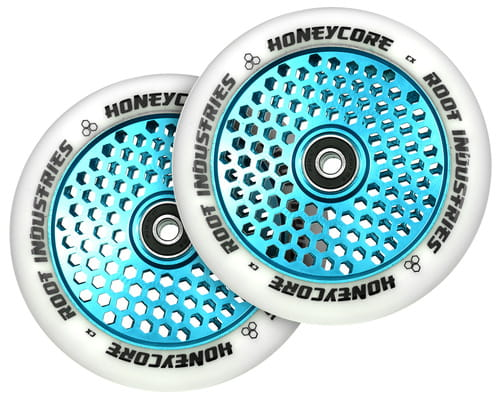 Copy of Root Honeycore White/blue 110mm 2-pack Stunt Scooter Wheels