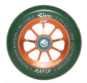 River Rapid Green/Copper Scooter Wheels 110mm