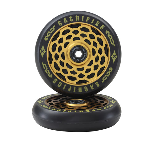 Sacrifice Spy Scooter Wheels Gold ( Sold In Pairs)