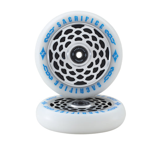 Sacrifice Spy Scooter Wheels Blue (Sold In Pairs)