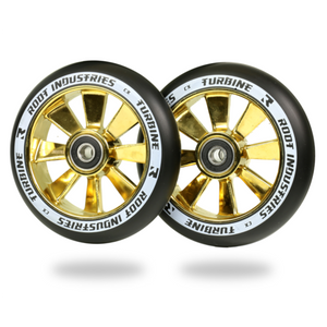 Root Ind. Turbine Scooter Wheels Pair Black/Gold Rush 110mm