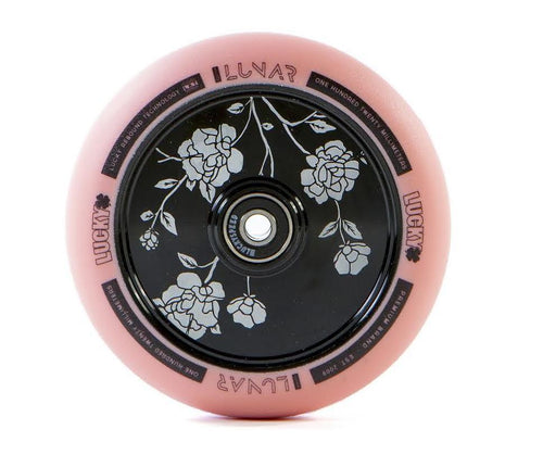 Lucky Lunar Zephyr Hollowcore Wheel - 120mm - Pink on Black