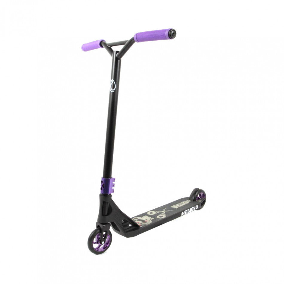 AO Stealth 3 LE Complete Scooter Black/Purple