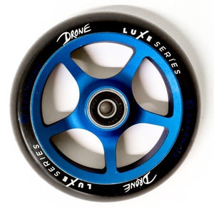 Drone Luxe Series 110mm Scooter Wheel - Black / Sapphire