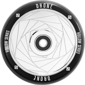 Drone Hollow Core Series Spiral Chrome Silver 110mm Scooter Wheels