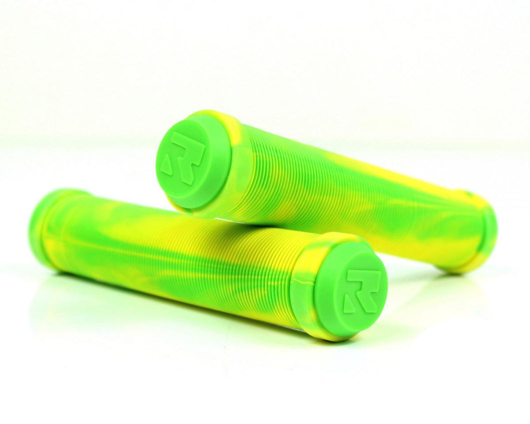 Root Industries Mixed Scooter Grips - Green/Yellow