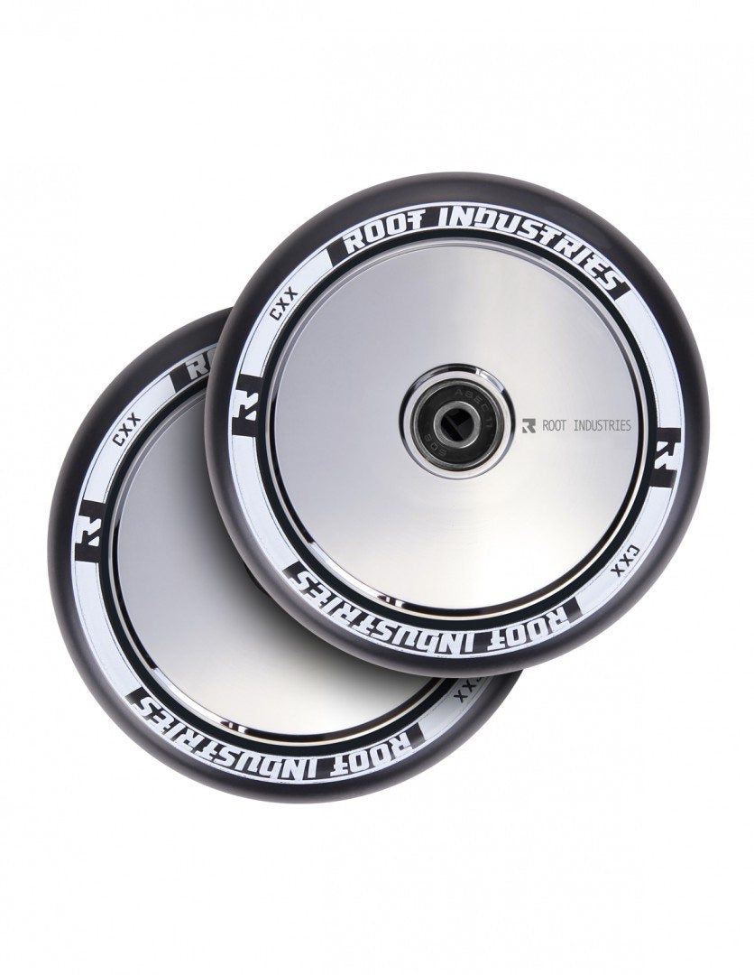 Root Ind. Air Scooter Wheels Pair Black/Mirror 120mm