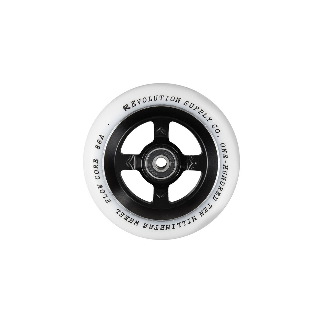 Revolution Flow Spoked Wheel - Black Black 110mm