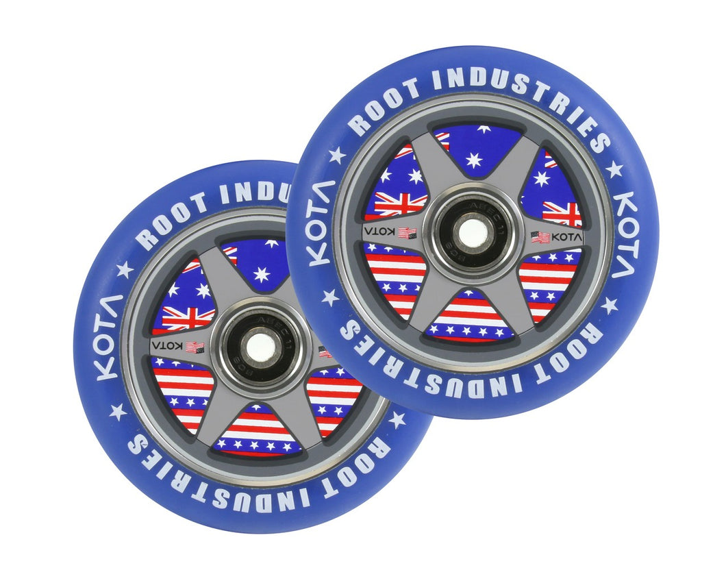 Root Ind. Air Scooter Wheels Pair Dakota Schuetz 110mm