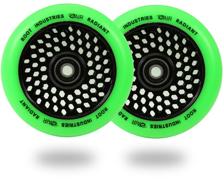 Root Ind. Honey Core Scooter Wheels Pair Black/Green 120mm