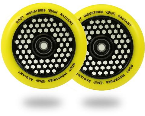 Root Ind. Honey Core Scooter Wheels Pair Black/Yellow 110mm