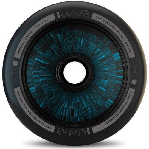 Lucky Lunar Black / Blue Hollow Core 110mm Scooter Wheel
