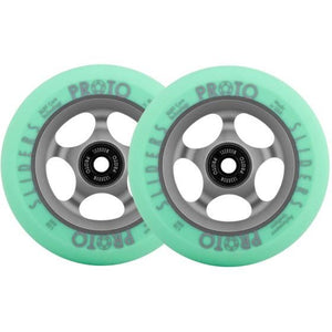 Proto Slider Faded Scooter Wheels 110mm Grey/Green Pair