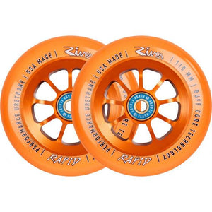 River Rapid Orange on Orange Scooter Wheels 110mm