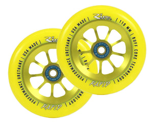River Rapid Sunrise Yellow Scooter Wheels 110mm