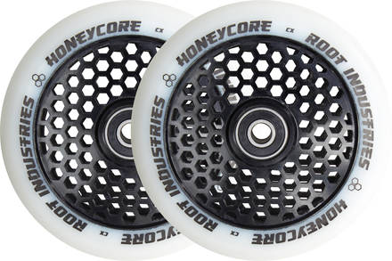 Root Honeycore White/Black 110mm 2-pack Stunt Scooter Wheels