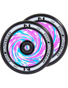Root Ind. Air Scooter Wheels Pair Black/Tie Die 120mm