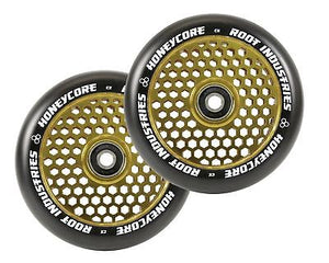 Root Ind. Honey Core Scooter Wheels Pair Black/Gold 110mm