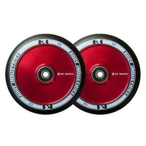 Root Ind. Air Scooter Wheels Pair Black/Red 110mm