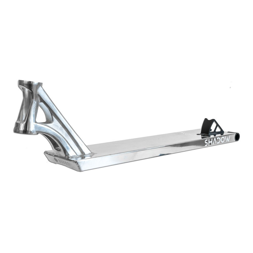 Drone Shadow Polished Chrome Silver Stunt Street Scooter Deck - 22